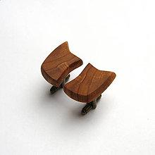 Šperky - Drevené manžetové gombíky - hruškové kúsky - 11245246_
