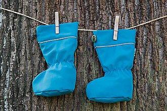 Topánočky - Topánočky s merino vlnou / softshell - TYRKYS - 11249953_