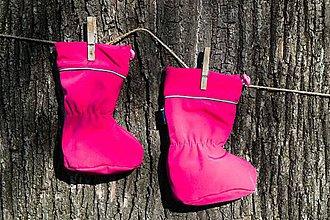 Topánočky - Topánočky s merino vlnou / softshell - FUKSIA - 11250038_