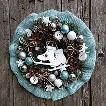 Dekorácie - Ľadový vianočný venček - 11247909_