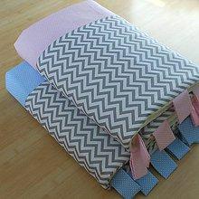 Úžitkový textil - Zástena bez vreciek *Ševron Farebný* (Modrá) - 11246884_
