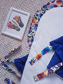 Textil - Modrá folklórna perinka - 11248972_