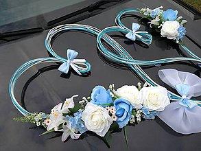 Dekorácie - Výzdoba svadobného auta - 11249706_