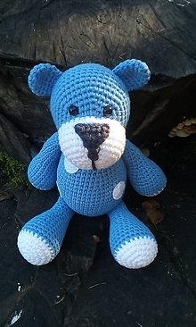 Hračky - Macko modrý - 11249434_