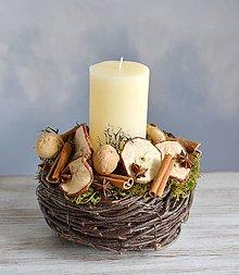 Dekorácie - Vianočný svietnik - 11249283_