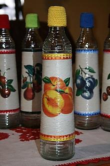 Nádoby - Fľaše na pálenku II.  (Broskyňa) - 11248913_