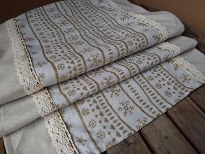 Úžitkový textil - Štóla vianočná zlatá - 11246518_