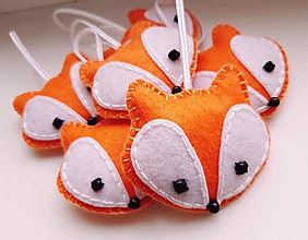 Dekorácie - Vianočné ozdoby - líšky - 11249524_