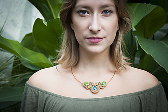 Náhrdelníky - Farebné zlato - šujtášový náhrdelník - 11249771_