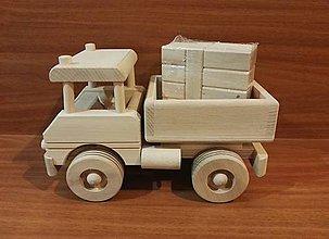 Hračky - Drevené nákladné auto  s kockami - 11249092_