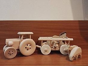 Hračky - Traktor s rebriňákom - 11249332_