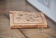 Papiernictvo - kožený zápisník - herbár PAPAVER - 11246435_