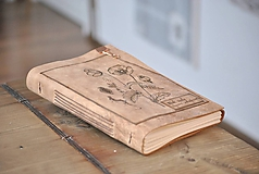 Papiernictvo - kožený zápisník - herbár PAPAVER - 11246436_