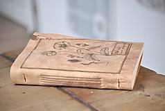 Papiernictvo - kožený zápisník - herbár PAPAVER - 11246438_