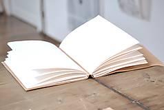 Papiernictvo - kožený zápisník - herbár PAPAVER - 11246441_