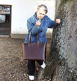 Veľké tašky - Kožená taška No.1 - 11246696_