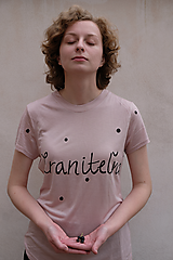 Tričká - ;semikolon; kolekcia // ručne maľované tričko s krátkym rukávom !posledné kusy! - 11248661_