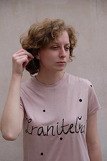 Tričká - ;semikolon; kolekcia // ručne maľované tričko s krátkym rukávom !posledné kusy! - 11248653_