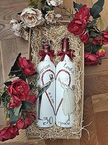 Nádoby - Sada svadobných fliaš - 11248730_