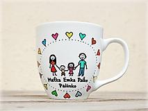 Nádoby - Maľovaný hrnček - Rodinka - 11248692_