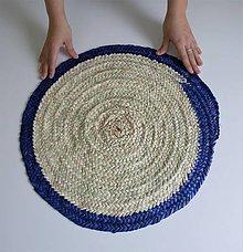 Nádoby - Pletený kruhový obrus - Boho style Table decor cover  (Modrá) - 11249112_