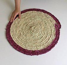 Nádoby - Pletený kruhový obrus - Boho style Table decor cover  (Bordová) - 11249119_