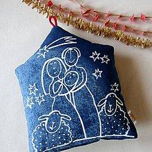 Úžitkový textil - STALO SE V BETLÉMĚ - polštářek - 11249785_