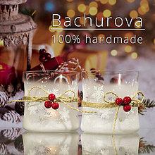 Kytice pre nevestu - Vianočný sklenený svietnik - 11247562_