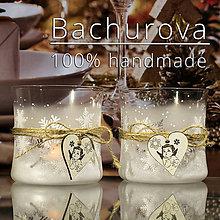 Kytice pre nevestu - Vianočný sklenený svietnik - 11247575_