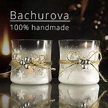 Kytice pre nevestu - Vianočný sklenený svietnik - 11249723_