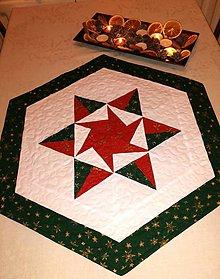 Úžitkový textil - Vianočná štóla - zelená mandala - 11249665_