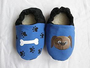 Topánočky - Papučky so psíkom - 11246538_
