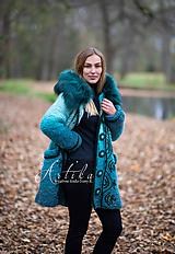 Kabáty - kabátik - Happy Turquoise Blue - 11247132_
