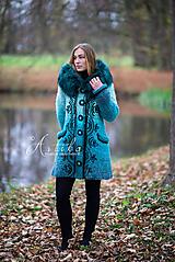 Kabáty - kabátik - Happy Turquoise Blue - 11247150_