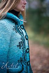 Kabáty - kabátik - Happy Turquoise Blue - 11247156_