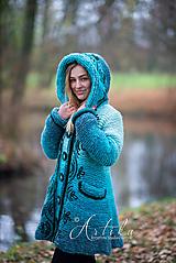 Kabáty - kabátik - Happy Turquoise Blue - 11247162_