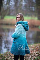 Kabáty - kabátik - Happy Turquoise Blue - 11247163_
