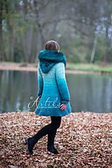 Kabáty - kabátik - Happy Turquoise Blue - 11247167_