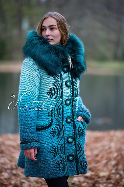 kabátik - Happy Turquoise Blue