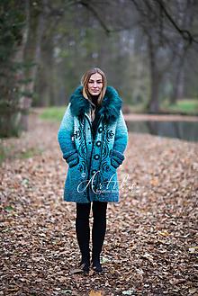 Kabáty - kabátik - Happy Turquoise Blue - 11247139_