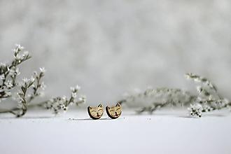 Náušnice - Mačacie jazýčky - 11248126_