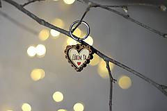 Kľúčenky - Kľúčenka ĽÚBIM ŤA - 11247945_
