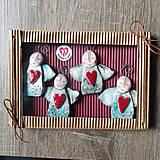 Dekorácie - Kolekcia vianočných ozdôbok - anjelici - 11248254_