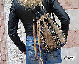 Kabelky - Ručně šitá kožená kabelka Rock bags - 11249464_