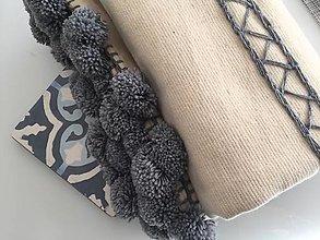 Úžitkový textil - Prehoz z vlny - 11246783_