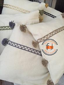 Úžitkový textil - Vankúše zo 100% vlny (Hnedá) - 11246959_