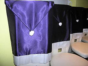 Úžitkový textil - Návlek na stoličku fialový - 11249719_