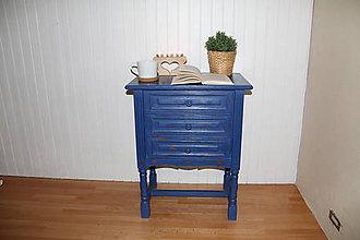 Nábytok - Modrá komoda - 11248269_