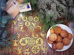Dekorácie - Vianočné ozdoby - Sada 1  (Modrá) - 11249975_