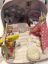 Hračky - Čarovný kufrík s myškou a teepee - 11248391_